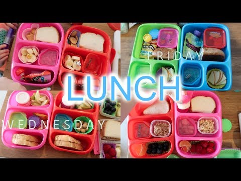 Kid's Lunch Ideas - Week 1 | Sarah Rae Vlogas |