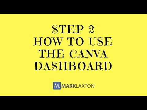 How To Use Canva - Part 2 Where to find everything you need in the dashboard design graphic design