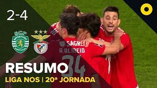 Sporting 2 4 Benfica Resumo SPORT TV