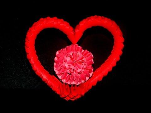 3D Origami  Heart tutorial 1 || DIY paper Heart