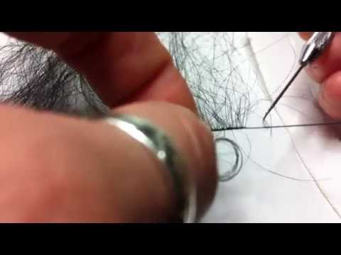 How to Make fake lashes from human hair