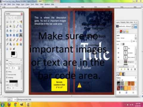 How to Make a Book Cover for CreateSpace with Gimp