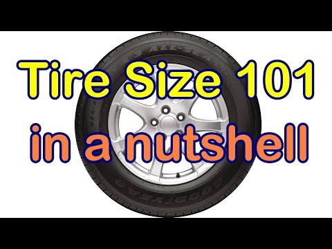What the Car Tire Size Numbers Mean