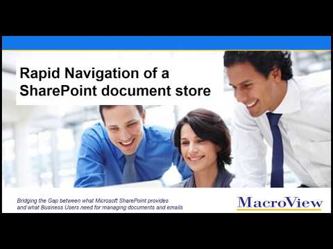 Rapid Navigation of a SharePoint document or email store