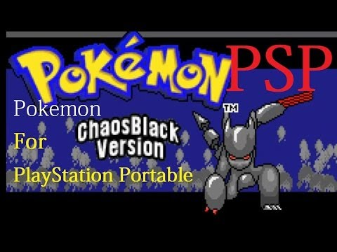 Playing Pokemon Chaos Black on PSP