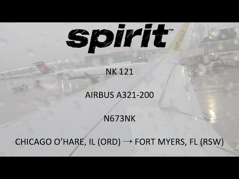 Spirit Airlines NK 121 - Chicago O'Hare, IL (ORD) → Fort Myers, FL (RSW)(3/26/2017)
