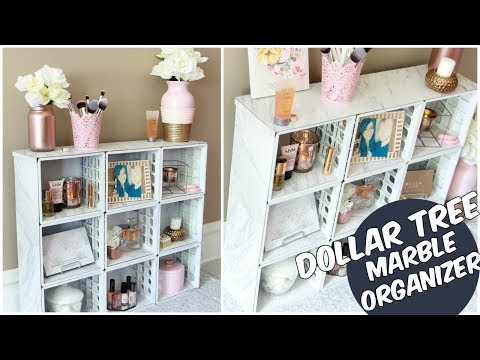 DOLLAR TREE INSPIRED MARBLE ORGANIZER D.I.Y TUTORIAL