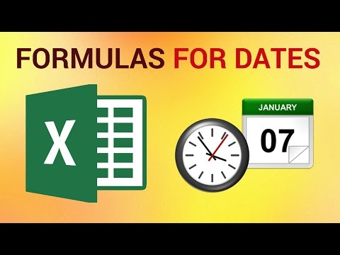 How to Make Formulas for Dates in Excel 2016
