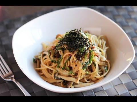 Spaghetti with Shimeji Mushroom Recipe - Japanese Cooking 101