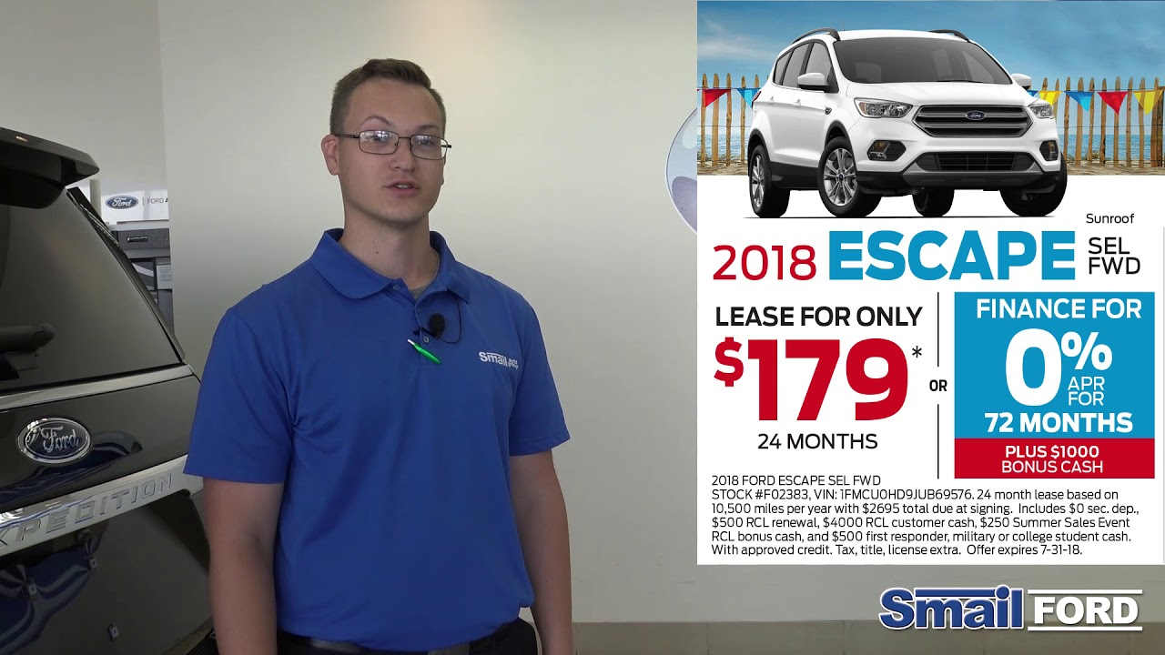 Smail Ford Lease and 0% APR Finance Offers for July 2018