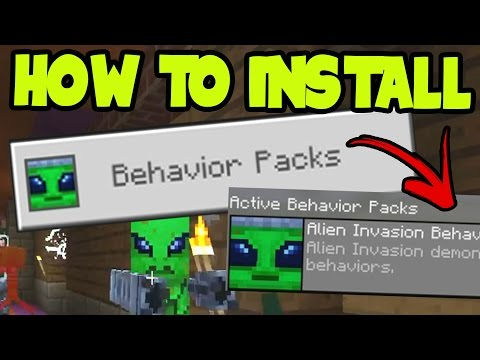 HOW to INSTALL ADDONS and BEHAVIOR PACKS!! Minecraft Pocket Edition 0.16.0