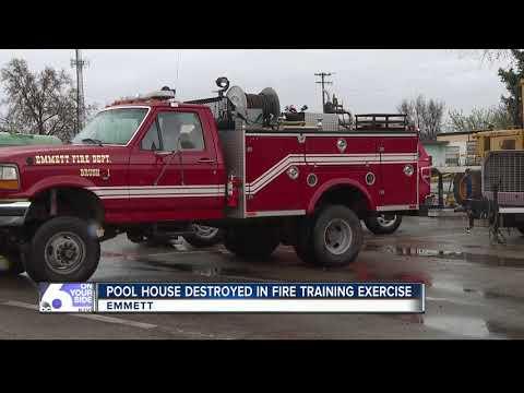 Emmett Fire hosts practice burn