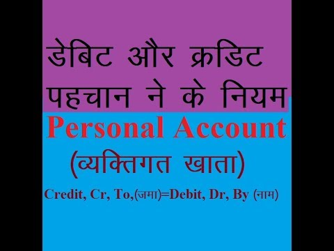 RULES OF ACCOUNTS Tutorial for all Class, Personal Account, Golden Rules of Accounting,
