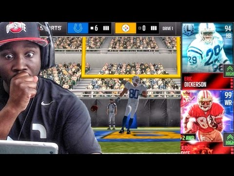 LEGENDS TAKING OVER IN LEAGUE GAMES! Madden NFL 16 Mobile Gameplay