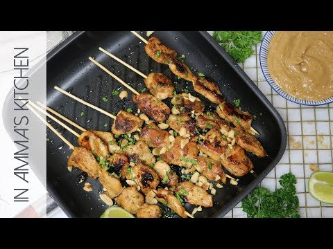 How To Make Chicken Satay with Peanut Coconut Sauce