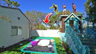 INSANE ROOF JUMPING AT THE NEW HOUSE!