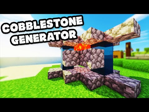 Minecraft - How to Build an Improved 2 Person Cobblestone Generator - Tutorial #50