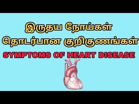 Symptoms of cardio vascular disease in tamil