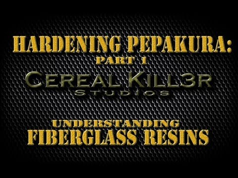 How To Harden Pepakura (Part 1) - Understanding Fiberglass Resin