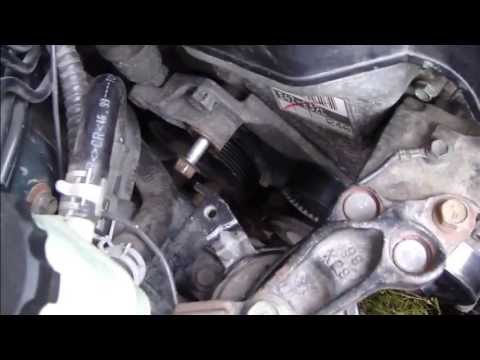 How to replace tensioner. Drive belt or serpentine belt. Toyota Corolla VVT-i. Years 2000-2007