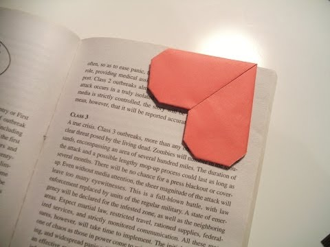 How To Make A Heart Bookmark
