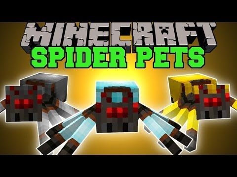 Minecraft: SPIDER PETS (RIDE SPIDERS, GIVE THEM ARMOR, KILL MOBS!) Mod Showcase