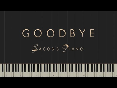 Goodbye - Original Piece \\ Synthesia Piano Tutorial