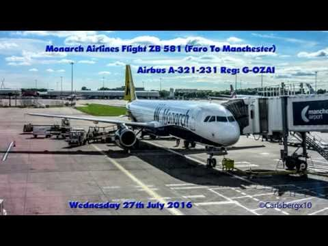 Faro to Manchester (Monarch Airlines ZB 581) Take Off & Landing