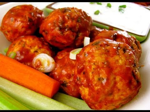 Spicy Buffalo Chicken Meatballs Recipe