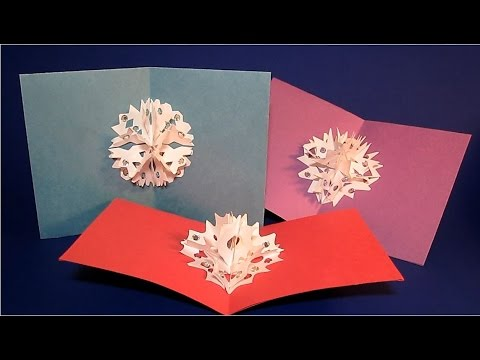 DIY 3D Snowflakes Pop Up Cards & Ornaments | DIY Winter Decor | Crafts for Kids | Paper Cut Outs
