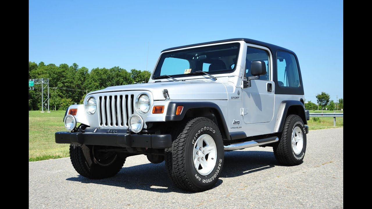 Davis AutoSports 2004 Jeep Wrangler Sport For Sale / Mint Condition / 105k Miles