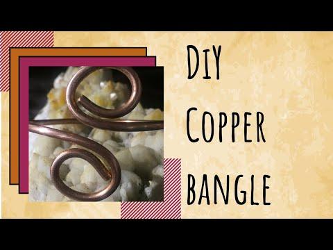 DIY Copper Swirl Bangle