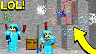COMPLETELY INVISIBLE MINECRAFT CAMO TROLL!