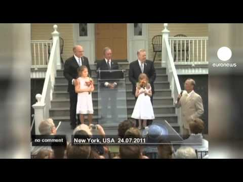 New York's first same-sex weddings - no comment