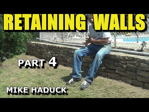 How I build a small stone wall (part 4 of 7) Mike Haduck