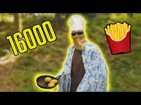 HOW TO MAKE FRENCH FRIES IN THE FOREST! - 16000 Subscriber Special (Thank You!)