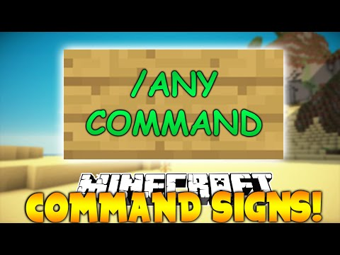 Minecraft Plugin: CommandSigns!