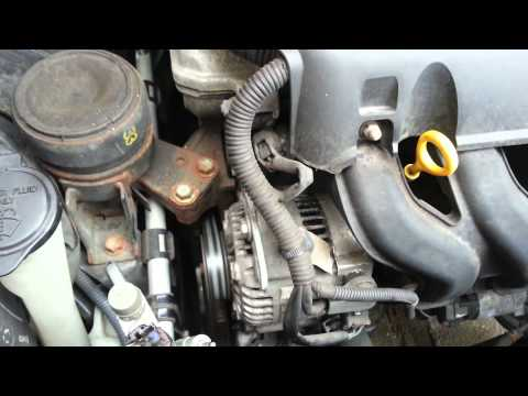 Toyota Yaris alternator noise before and after