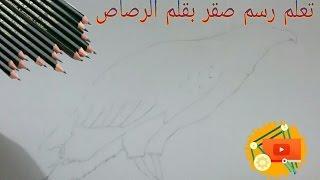 #x202b;تعلم كيف رسم صقر بالقلم الرصاص#x202c;lrm;