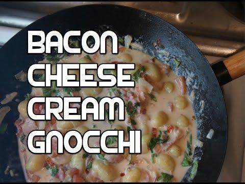 Bacon Garlic Cheese Creamy Gnocchi Recipe