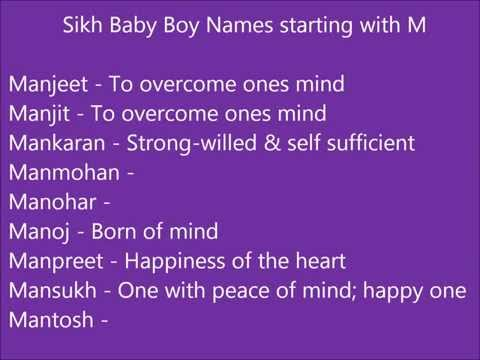 Sikh Baby Boy Names Starting With M Modern And Unique Punjabi Boy