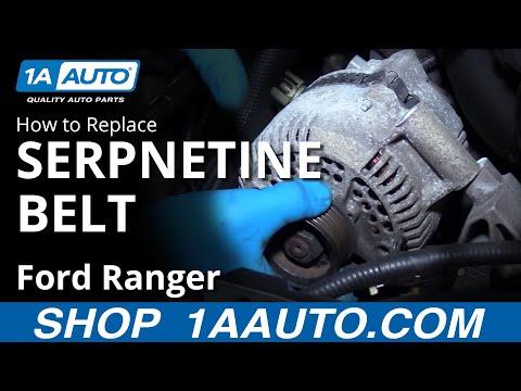 How to Remove Inspect Reinstall Serpentine Belt 2001 Ford Ranger 4.0L V6