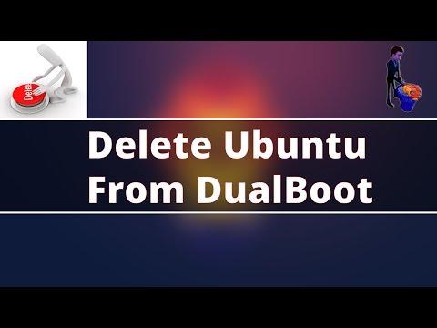 How to uninstall ubuntu from dual boot