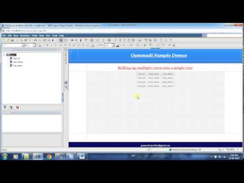 IBM Cognos 10 - Report Studio : Rolling up multiple rows into a single row