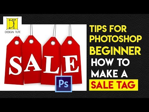 How to make a sale tag simple tutorial photoshop for a beginner