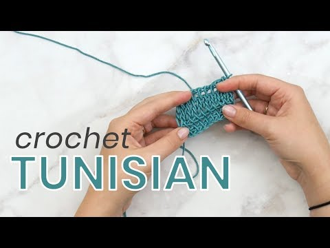 How to Crochet Tunisian Simple + Knit Stitch