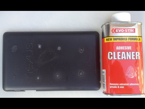 Removing Superglue From Uneven Plastic Surfaces Experiments - Part 7 Using EVO-STIK Adhesive Cleaner