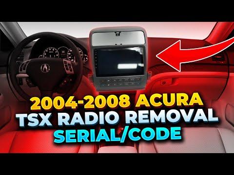 2004-2008 Acura TSX Navi/Radio Removal serial/code