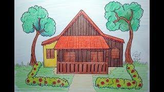 710 Cara Menggambar Rumah Di Buku Gambar Gratis Terbaik