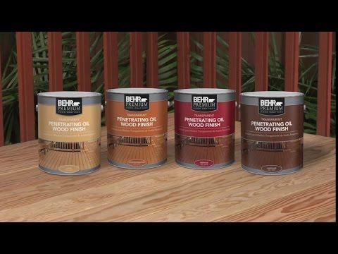 BEHR PREMIUM® Transparent Penetrating Oil Wood Finish